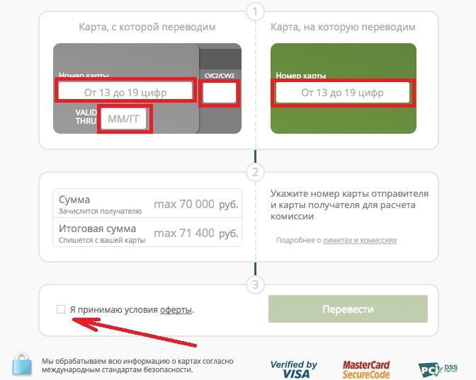 ОТП Банк перевод с карты на карту